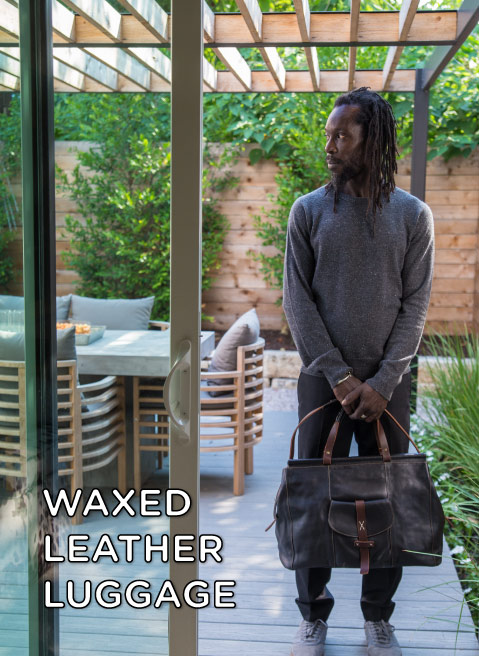 Waxed Leather Luggage Collection