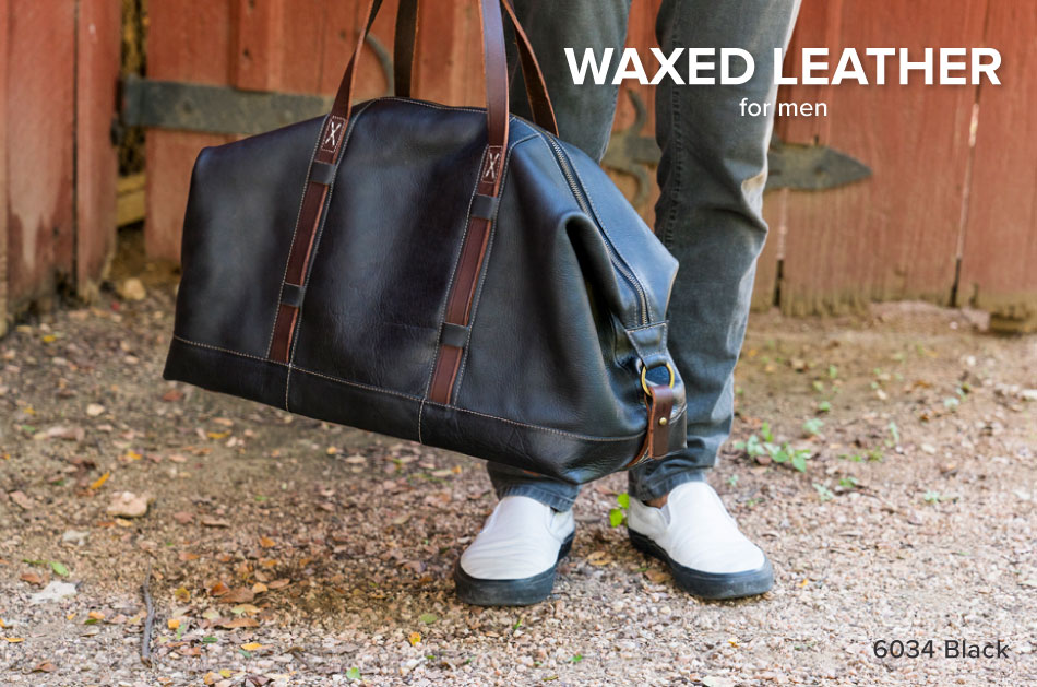 Waxed Leather Luggage for Men