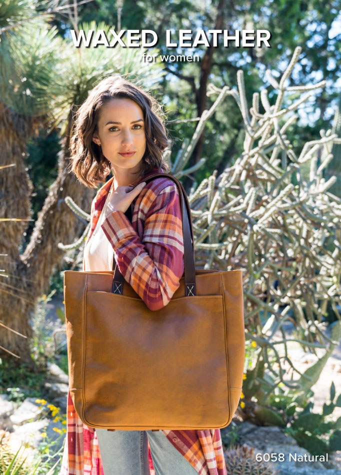 Waxed Leather Luggage for Women
