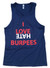 Men's I Love Hate Burpees Bro Tank Top