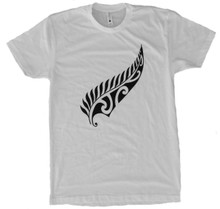 New Zealand Maori Fern T-shirt- White