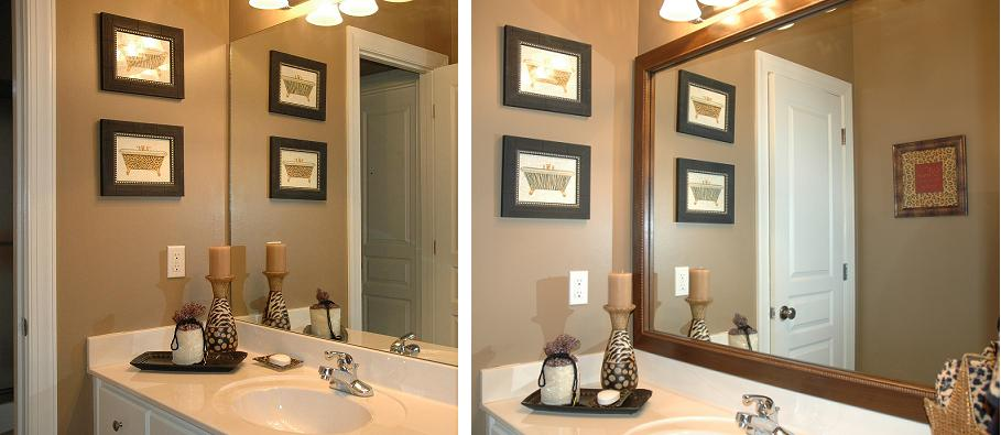 Bathroom Mirror Frame Remodeling Ideas