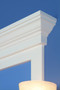 The Piedmont Cornice Cap is an option for nearly any of our frames