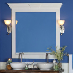 The Piedmont Cornice Cap is an option for nearly any of our frames, featuring a Keystone