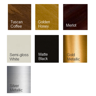 Order a finish sample to see the color of our mirror frames
