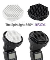 美國SpinLight 360® Grid 閃光燈蜂巢罩黑白色