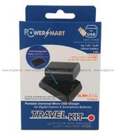 Powersmart Travel kit USB Charger for Canon 相機電池充電器