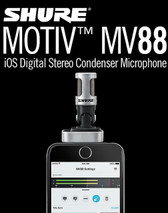 Shure MV88 iPhone Stereo Condenser Microphone 立體聲咪高風