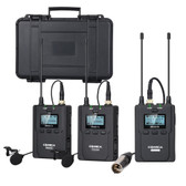 Comica CVM-WM200(A) 96-Channel Full Metal Wireless Dual Lavalier Microphone 一拖二無線咪