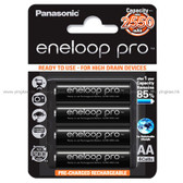 Panasonic Eneloop Pro Ni MH 2550mAh 大容量 AA 閃光燈充電池