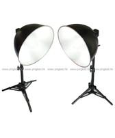雙攝影燈連折疊式柔光攝影棚套裝