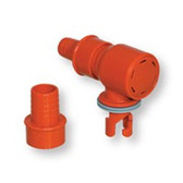 Push twist valve adaptor with pressure release
