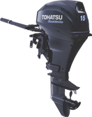 Tohatsu 15hp four stroke - elec start, tiller MFS15D EF