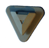 Avon triangular tube button