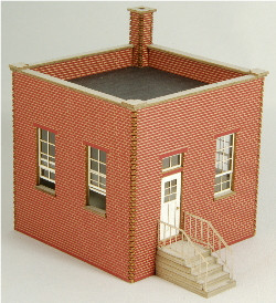 HO-SCALE FACTORY GUARD HOUSE