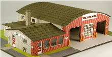 HO-SCALE VILLAGE HALL & VOL. FIRE DEPT.