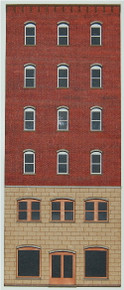 HO-SCALE OFFICE 6-STORY-A (ARCHED) BACKDROP