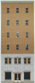 HO-SCALE OFFICE 6-STORY-B (GOTHIC) BACKDROP