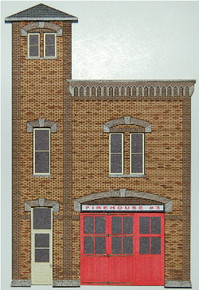 HO-SCALE FIREHOUSE #3 BACKDROP