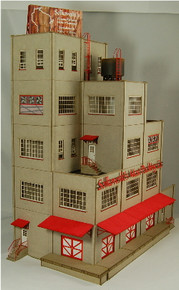 HO-SCALE SOLKOWSKI'S MEAT PACKING CO. ANGELED BACKDROP