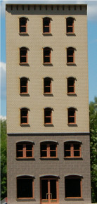 HO-SCALE 6-STORY OFFICE-A BACKDROP ARCHED (NPR)