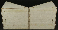 HO-SCALE: CORE ANGLED-C LEFT AND RIGHT 1-SET