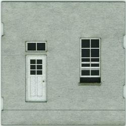 HO-SCALE: FACE (DOOR-WINDOW) CONCRETE 4-PACK