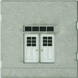 HO-SCALE: FACE (DOUBLE DOOR) CONCRETE 2-PACK