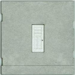 HO-SCALE: FACE (TRAIN FREIGHT ENTRY DOOR) CONCRETE 2-PACK