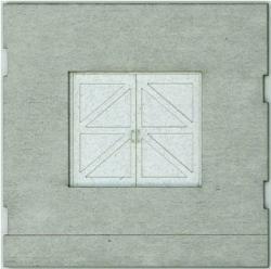 HO-SCALE: FACE (TRAIN FREIGHT DOOR) CONCRETE 4-PACK