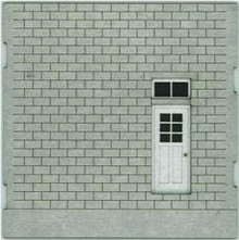 HO-SCALE: FACE (BLANK-DOOR) CINDER BLOCK 4-PACK