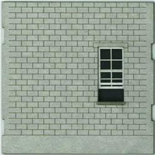 HO-SCALE: FACE (BLANK-WINDOW) CINDER BLOCK 4-PACK