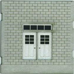 HO-SCALE: FACE (DOUBLE DOOR) CINDER BLOCK 2-PACK