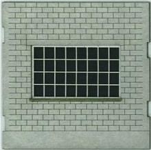 HO-SCALE: FACE (INDUSTRY WINDOW) CINDER BLOCK 4-PACK