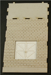 HO-SCALE: FACE (PASS THROUGH-DOOR) CINDER BLOCK 1-SET