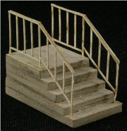 HO-SCALE: ADD-ON (SINGLE STAIR) 2-PACK