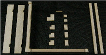 HO-SCALE: (PARAPET WALL & CAP) 4-PACK