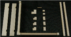 HO-SCALE: (PARAPET WALL & CAP) 4-PACK