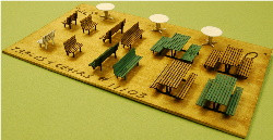 HO-SCALE TABLES & CHAIRS
