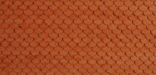 HO-SCALE ROOF SHINGLES SCALLOPED (BROWN)