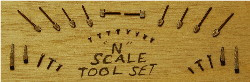 N-SCALE TOOL SET 30-PCS