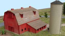 N-SCALE ELLIS BARN & SILO