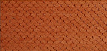 N-SCALE ROOF SHINGLES SCALLOPED (BROWN)