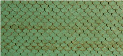 N-SCALE ROOF SHINGLES SCALLOPED (GREEN)
