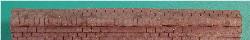 N-SCALE ROOF SHINGLES 3-TAB RIDGE CAP (BLACK)