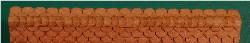 N-SCALE ROOF SHINGLES SCALLOPED RIDGE CAP (BROWN)