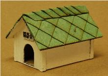 O-SCALE DOG HOUSE 2-PK