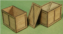A-SCALE PLANKED CRATE-1 2-PACK