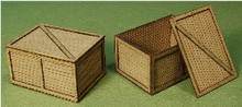 A-SCALE PLANKED CRATE-2 2-PACK