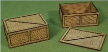 A-SCALE PLANKED CRATE-3 2-PACK